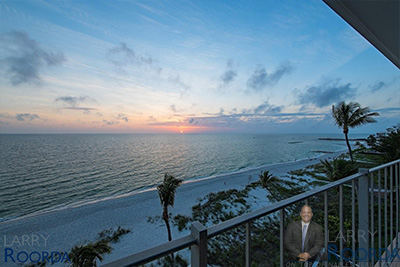 Beachfront view from Carriage Club, Naples condominiums