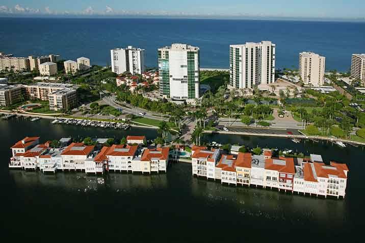Venetian Villas waterfront condos in Naples, FL