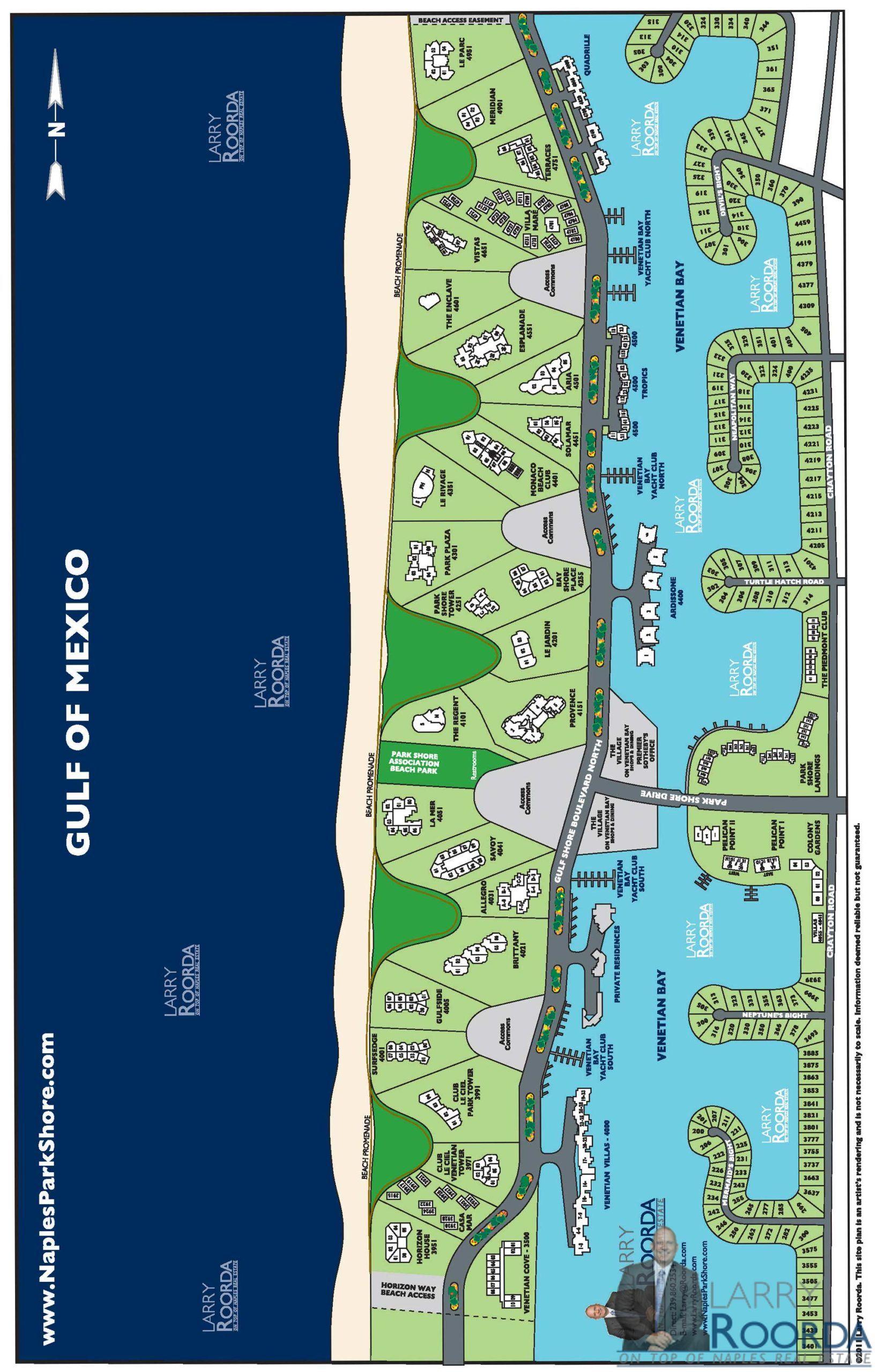 Park Shore Map