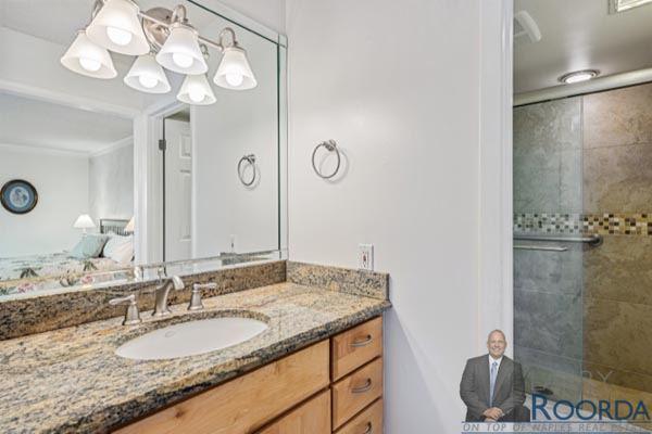 Jennifer Shores #105 Waterfront Condominium for sale in Naples, FL, bathroom