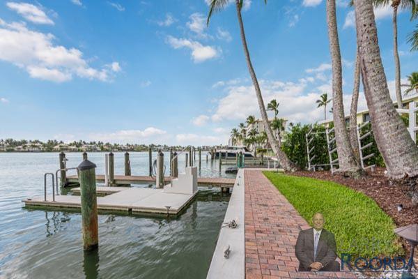 Jennifer Shores #105 Waterfront Condominium for sale in Naples, FL, exterior view
