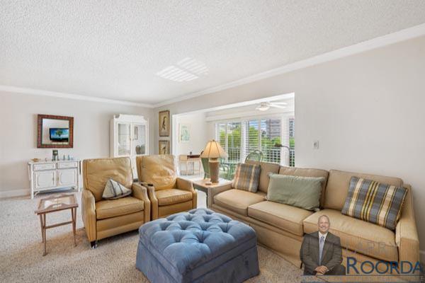Jennifer Shores #105 Waterfront Condominium for sale in Naples, FL, living space